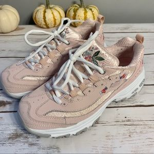 Skechers D'Lites Bright Blossoms Light Pink Sz 6.5